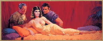 Richard Burton and Elizabeth Taylor as Anthony & Cleopatra