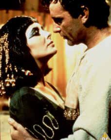 Richard Burton and Elizabeth Taylor as Anthony & Cleopatra